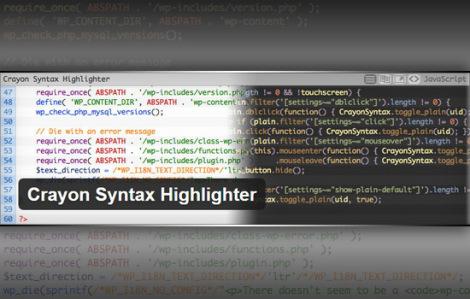 crayon-syntax-highlighter