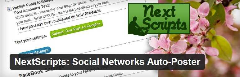 nextscript yazilari sosyal medyada otonatik paylasma eklentisi - WordPress Sosyal Medyada Otomatik Yazı Paylaşma