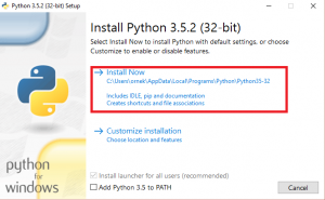 python kurulum 3